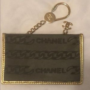NWOT CHANEL pony hair card holder
